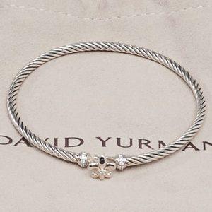 David Yurman Sterling Diamond Bracelet